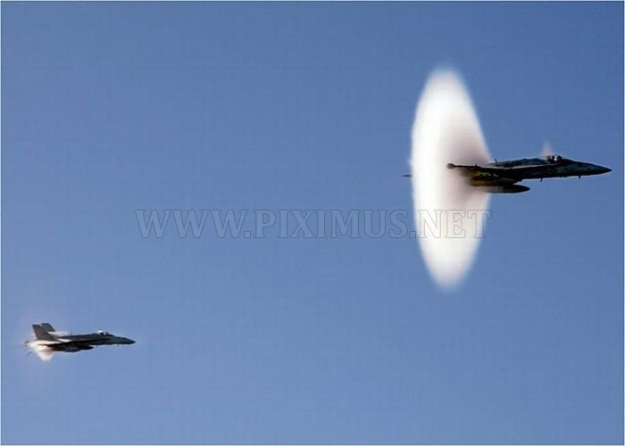 Jets Travelling at Transonic Speed