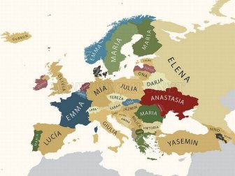 Europe's Most Popular Names
