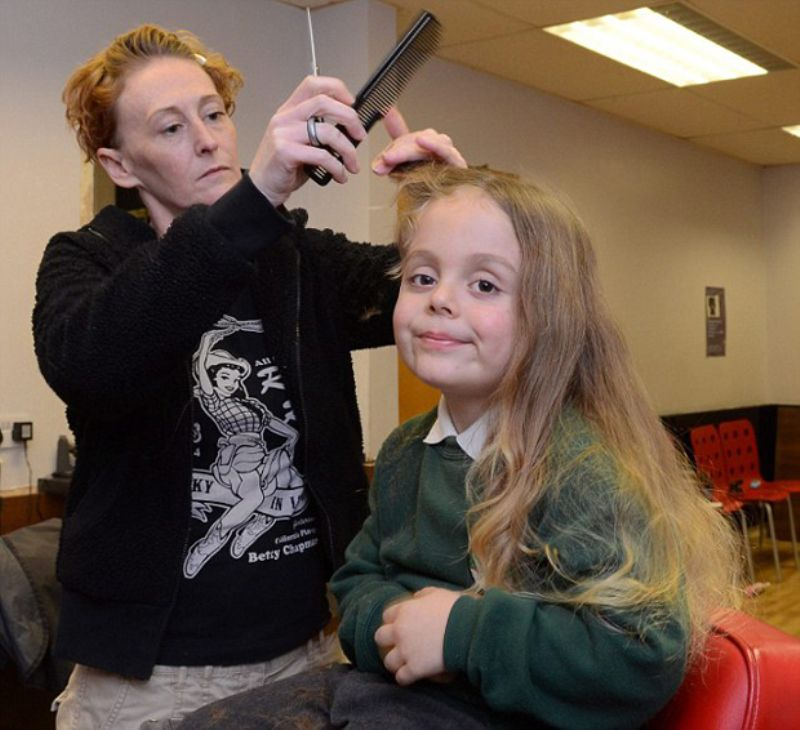5-Year-Old Gets Long Locks Chopped
