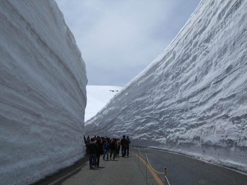 Japan's 65-Foot Towering Snow Walls