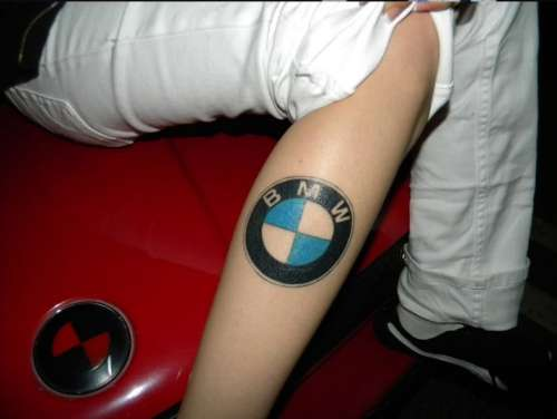 Tattoo battle - BMW and VW fans