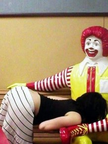 Clown Ronald makes people do nasty things
