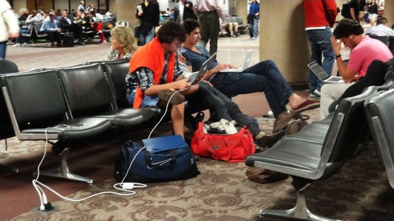 Never Enough Airport Power Outlets