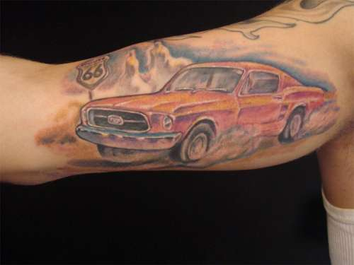 Tattoo battle - Ford vs Chevy Fans