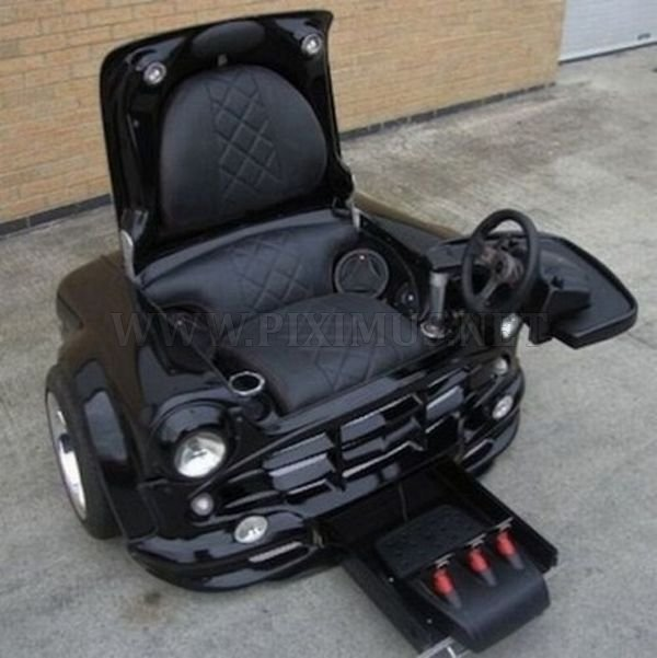Computer Gaming Chair Made from the Car
