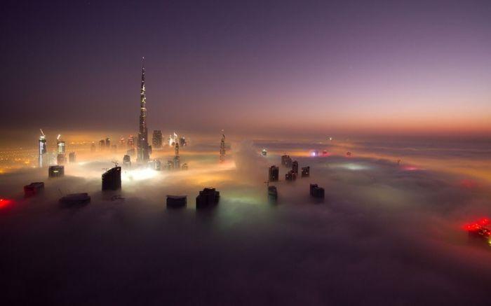 Dubai in Fog