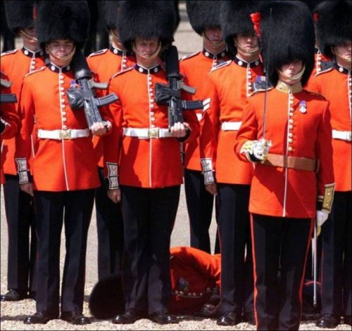 The Royal Guard passed out