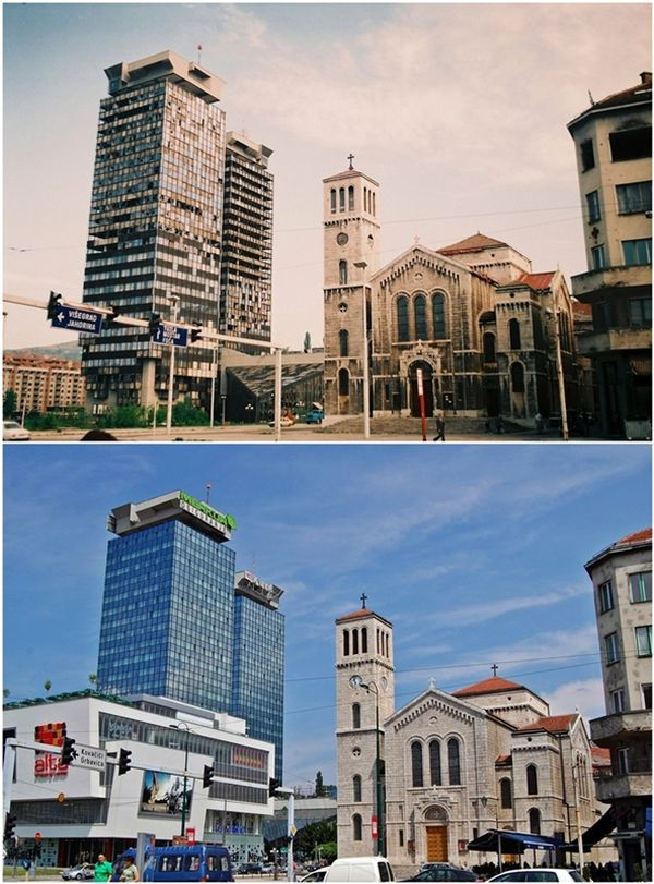 Photos of Sarajevo after the 1992-96 Siege and Now