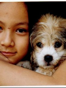 Girl and Dog Ten Years Later