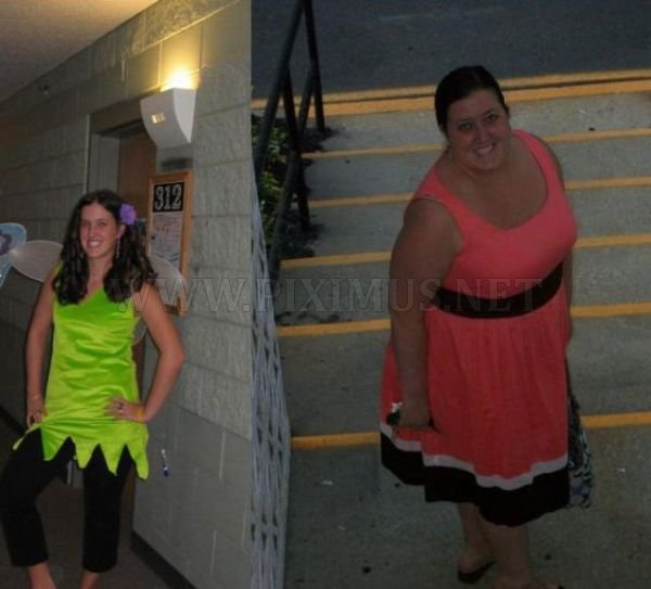 Girls Before and After... Junk Food