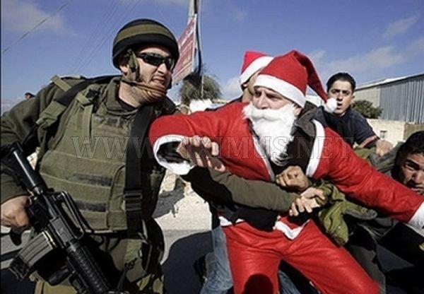 Santa getting arrested