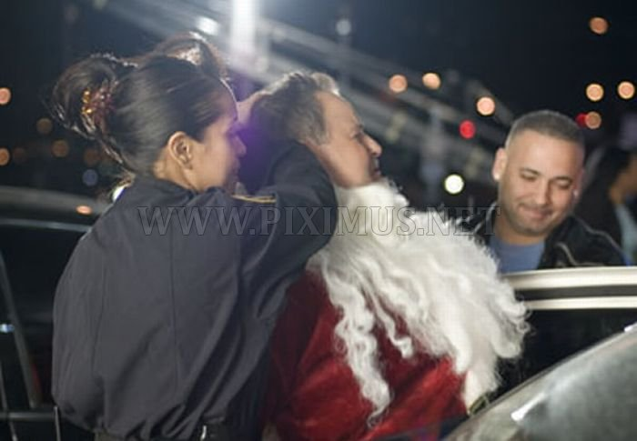 Santa getting arrested