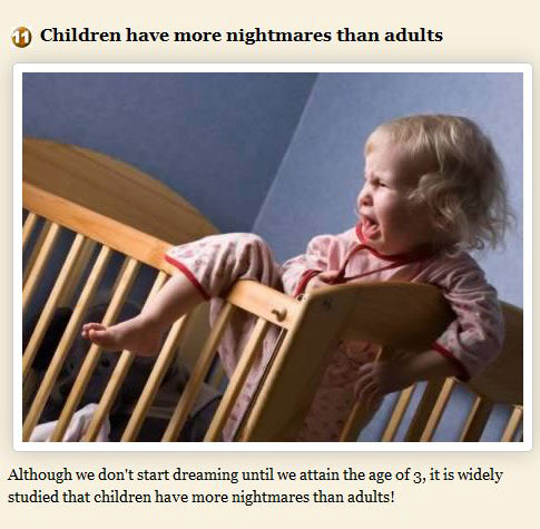 Facts About Dreams, part 2