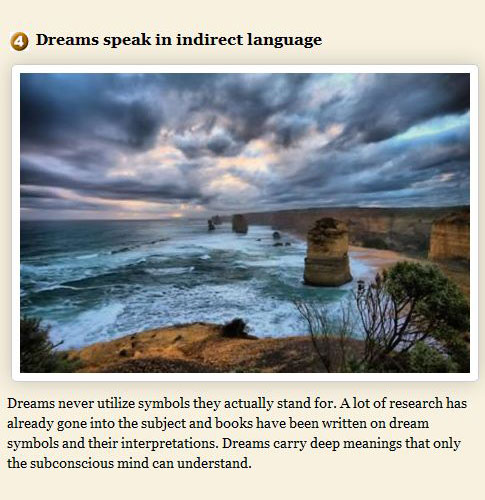 Facts About Dreams, part 2