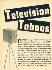 Television Taboos, 1949