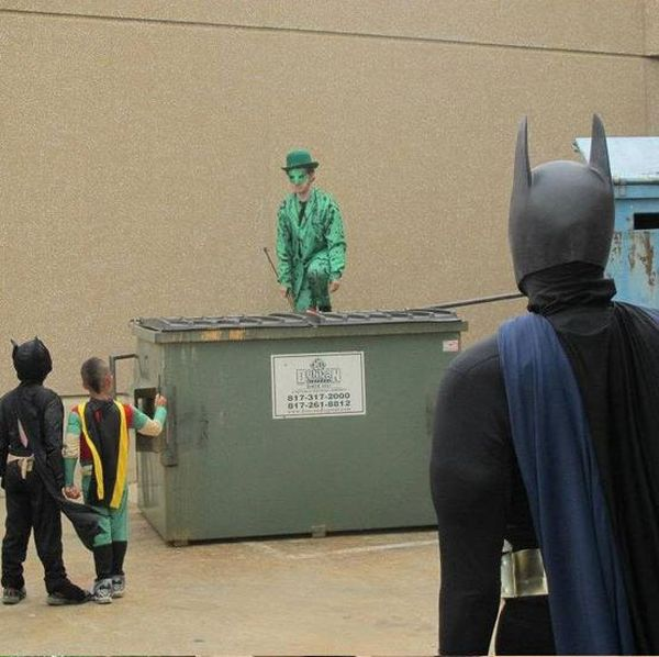 Kid Gets to be Batman for a Day