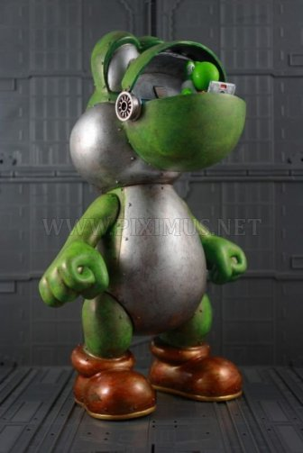 Awesome mecha yoshi art toy
