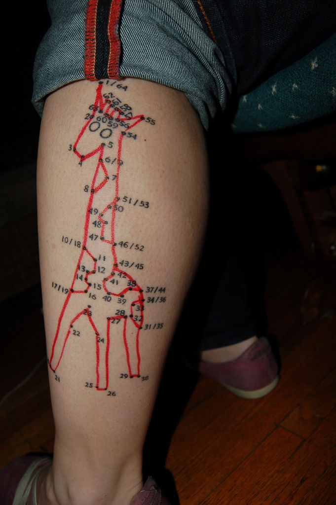 Freakish Leg Tattoo
