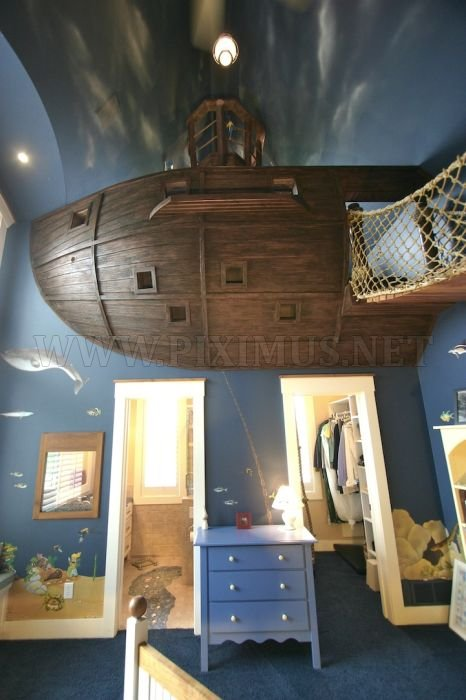 Ultimate Pirate Ship Bedroom