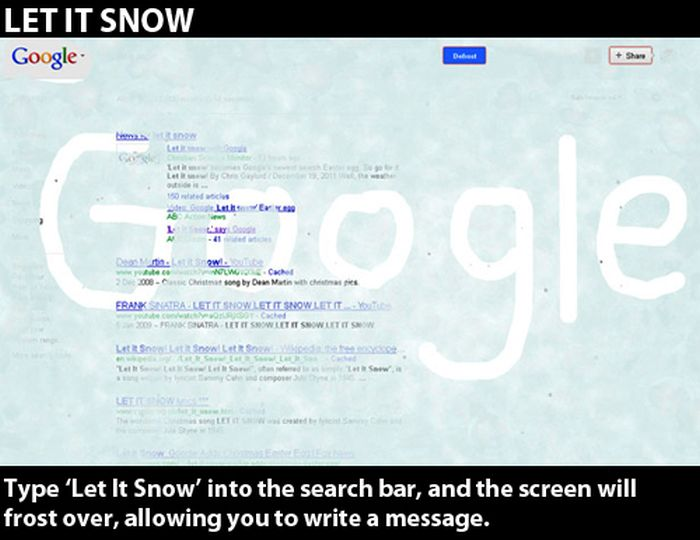 Google Secret Commands