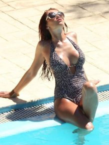 Amy Childs' Big Cleavage