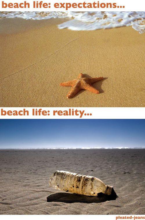 Beach Expectations vs Reality