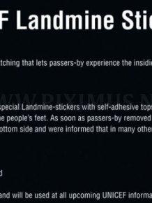 The UNICEF Landmine Stickers
