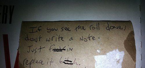 Passive-aggressive Roomate Notes