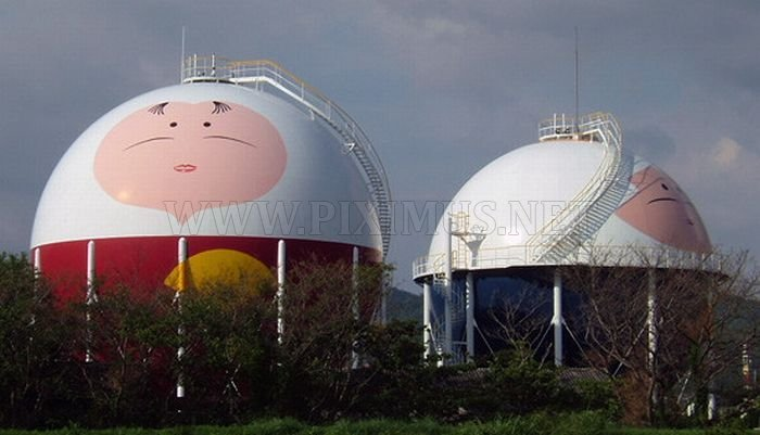 Decorated Gas Tanks in Japan