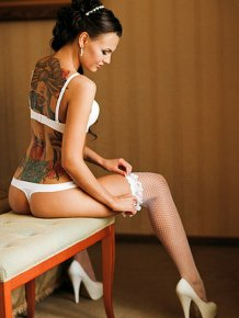 Girls with colorful tattoos