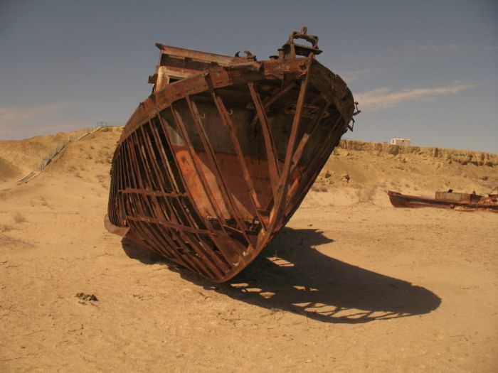 Abandoned Ships of Dead Aral Sea