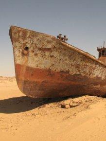 Abandoned Ships of Dead Aral Sea