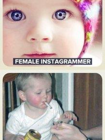 Female Instagrammer vs Male Instagrammer