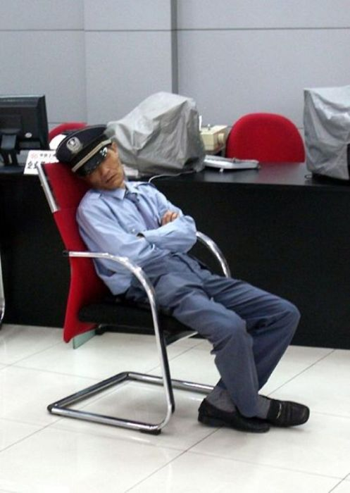 Security Guards Caught Sleeping On The Job