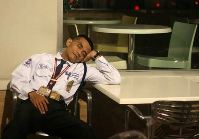 Security Guards Caught Sleeping On The Job Fun