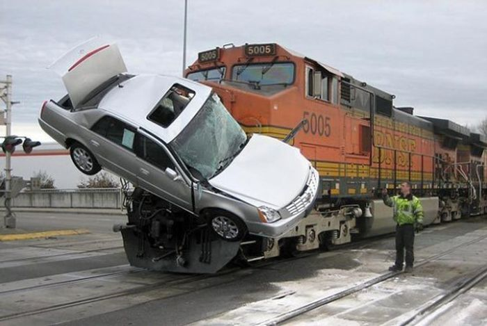 Train wrecks and crashes