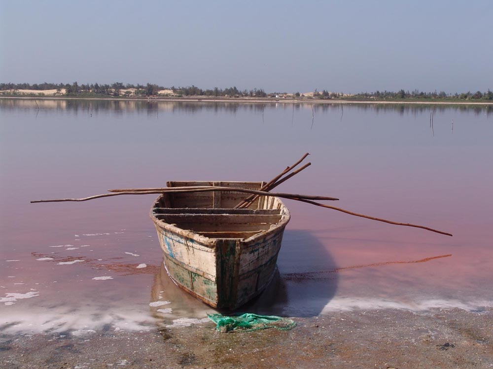 Pink Lake in Senegal