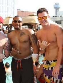 The Adult Swim pool party at Crowne Plaza