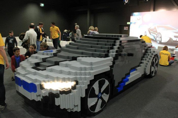 Famous Cars From Lego Parts Art