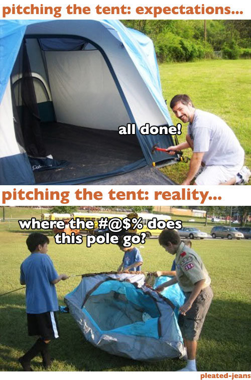 Most Camping Expectations Are a Bit Off