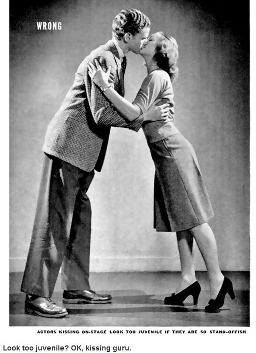 1942 Life Magazine Teaches You How to Kiss