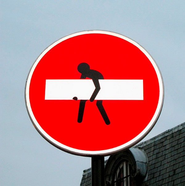 Cool Road Signs By Clet Abraham Art