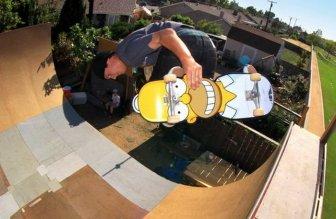 Homer Simpson Skateboard