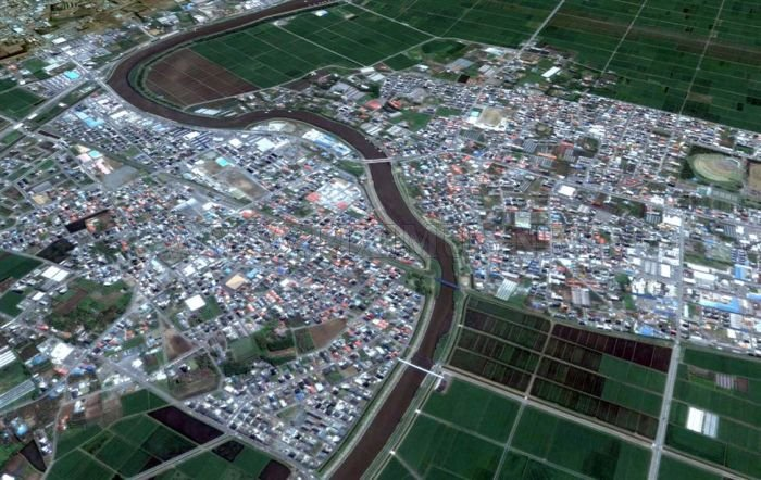 Japan Before and After Earthquake and Tsunami
