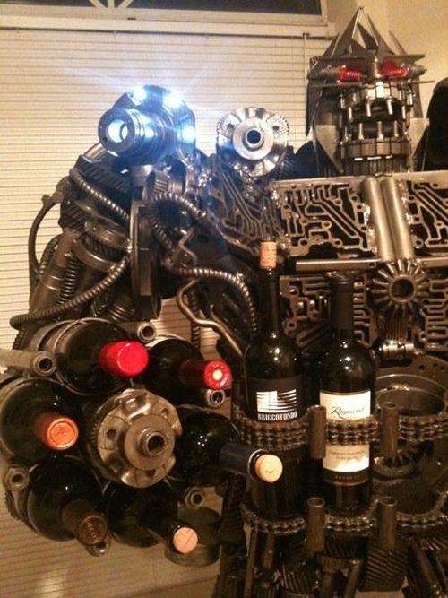 Transformer-style Wine Rack