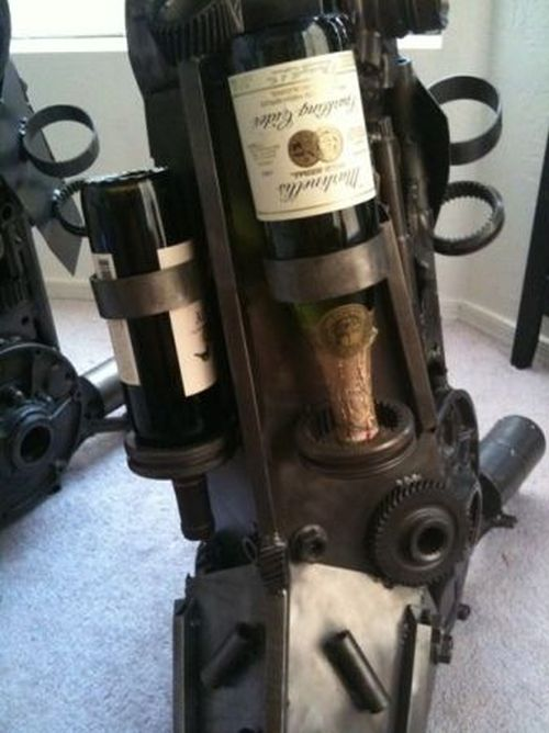 Transformer-style Wine Rack