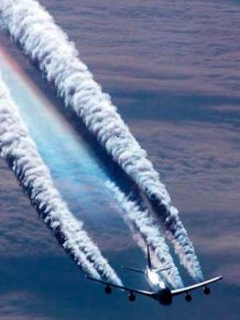 Vapour Trails and Cones Created by Planes