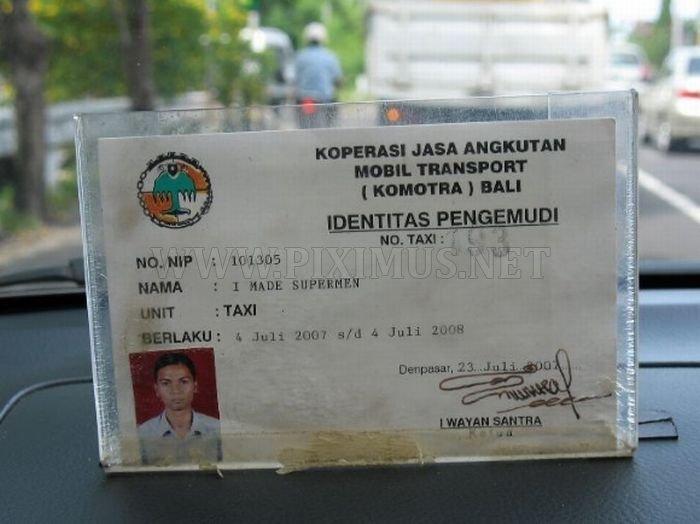 Funny Taxi Driver Names