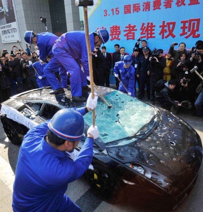 Lamborghini Driver on Destructive Path