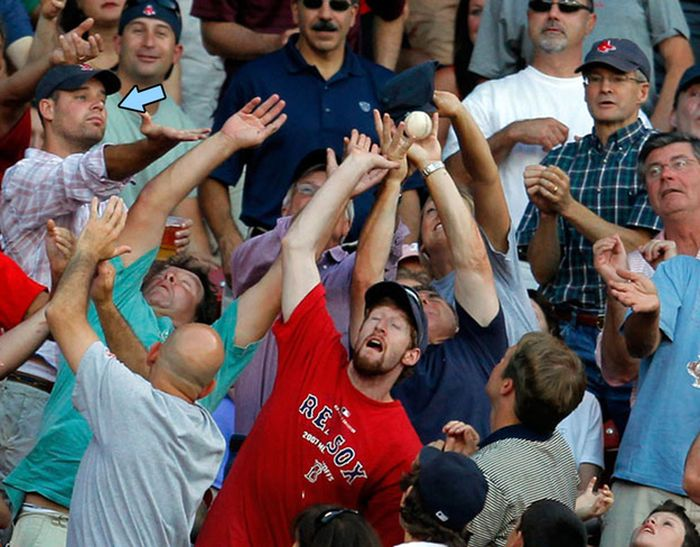 Fans Being Hit With A Foul Ball